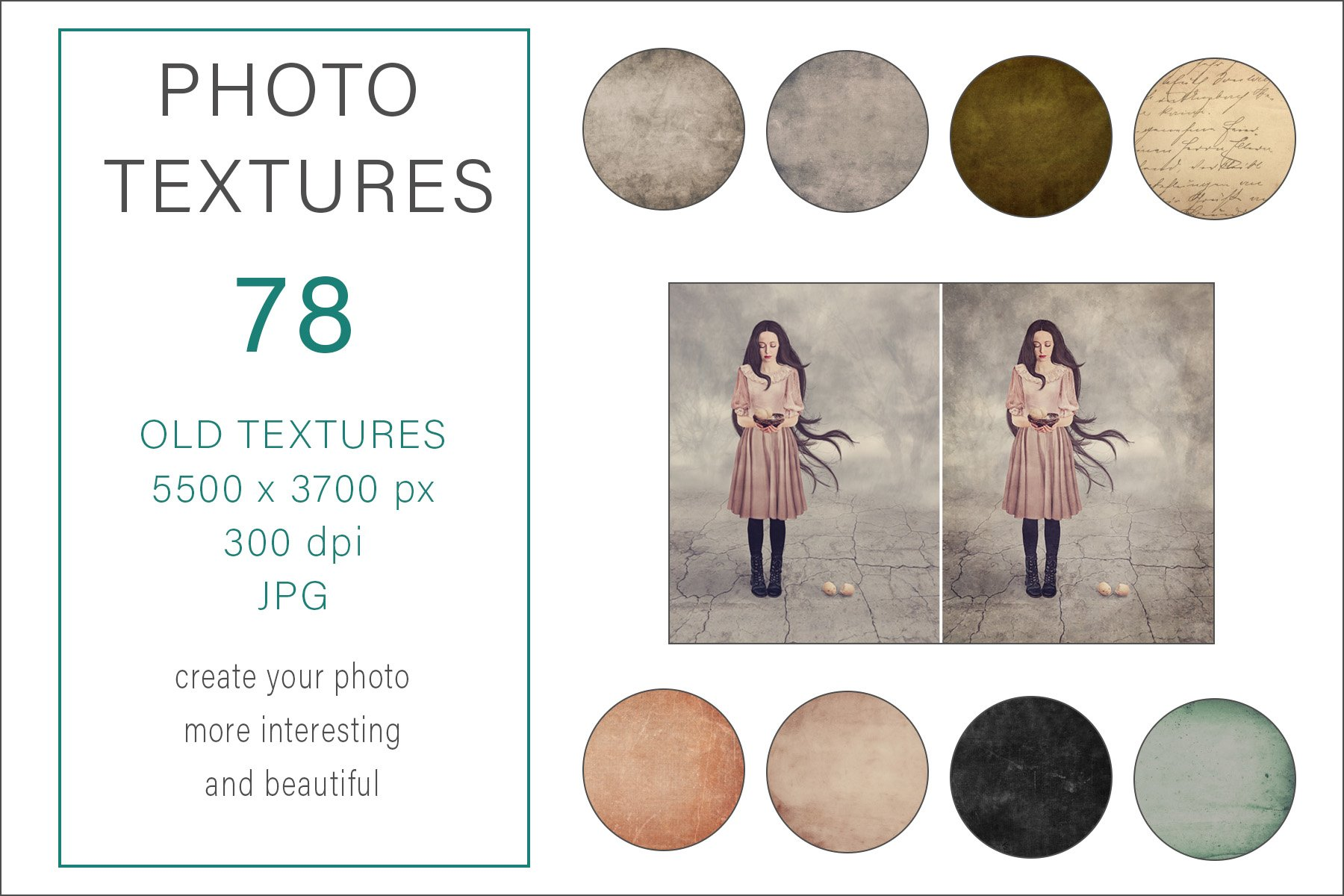 Photo Art Old Textures Bundle example image 1