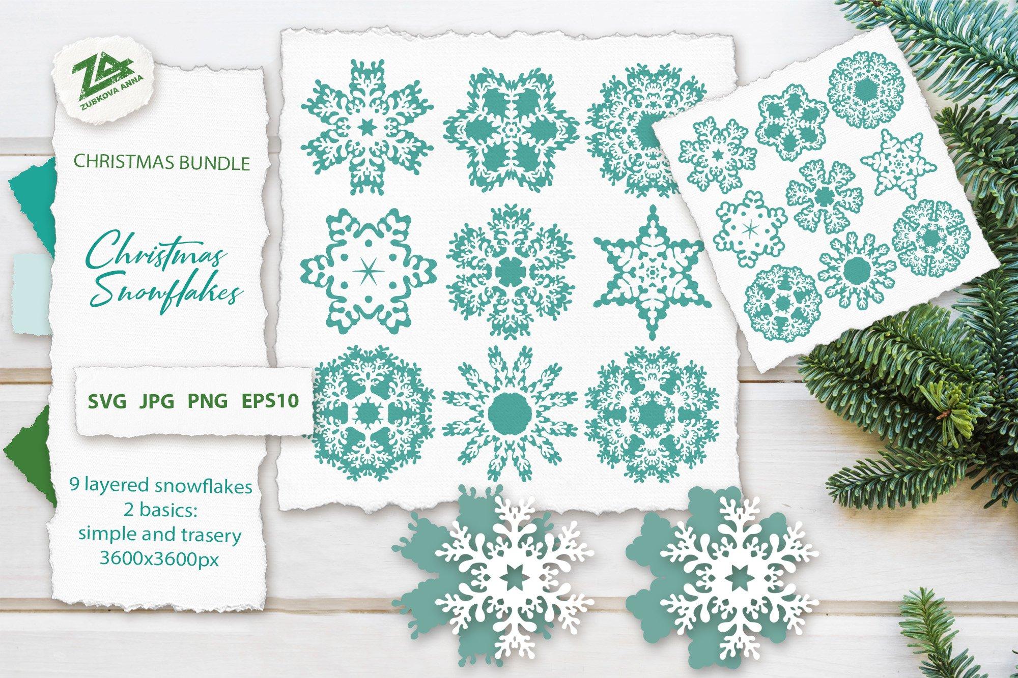 Christmas Snowflakes Svg Cut Files Bundle 1086972 Cut Files Design Bundles