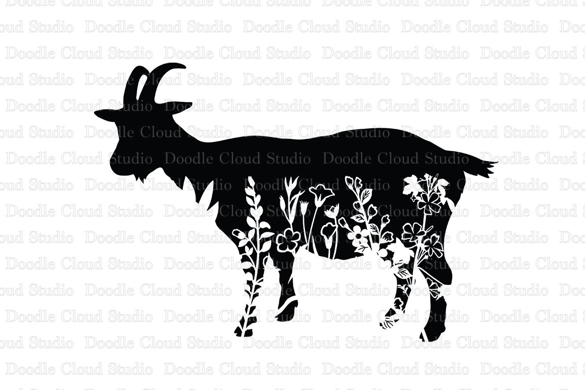 Download Floral Goat SVG Cut SVG, Floral Goat Clipart (512719 ...