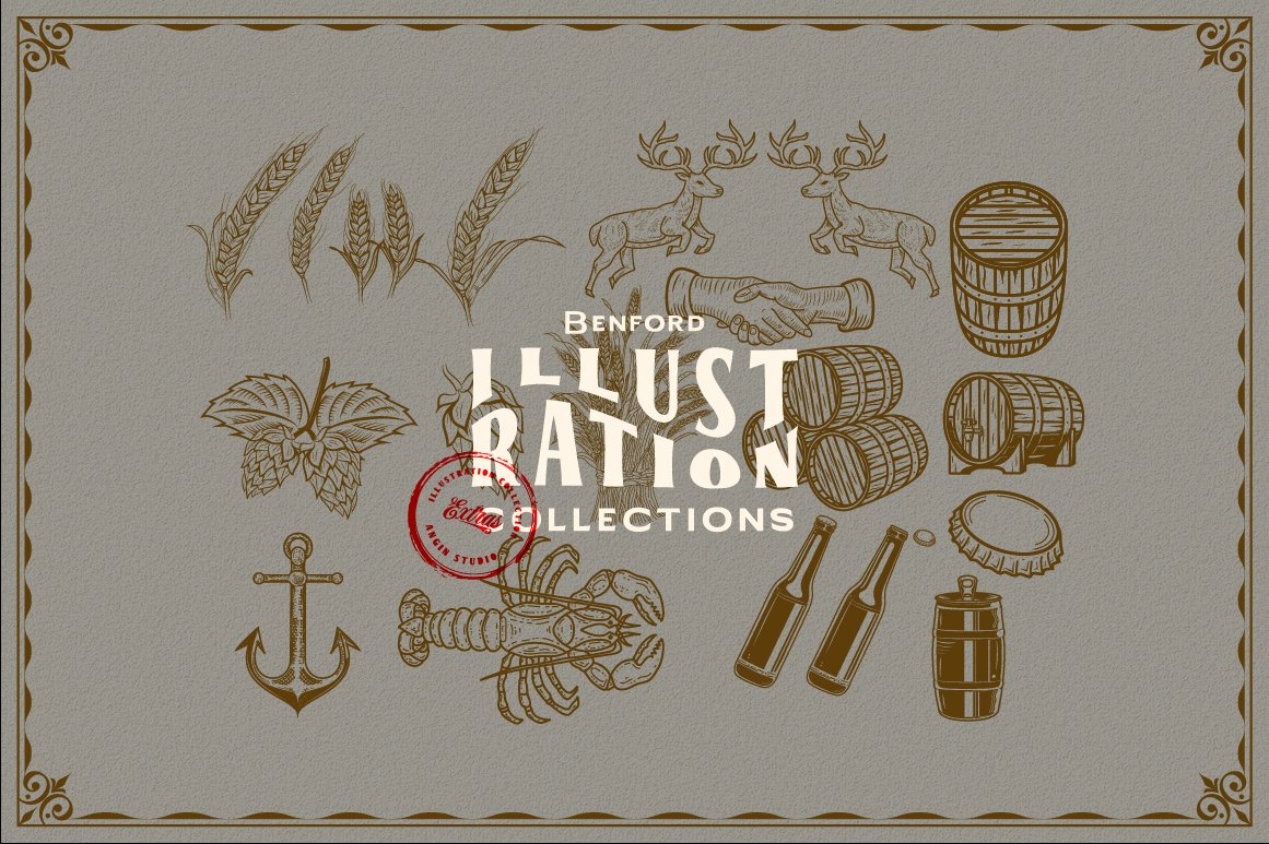 Benford Font Collections with Extras example image 12