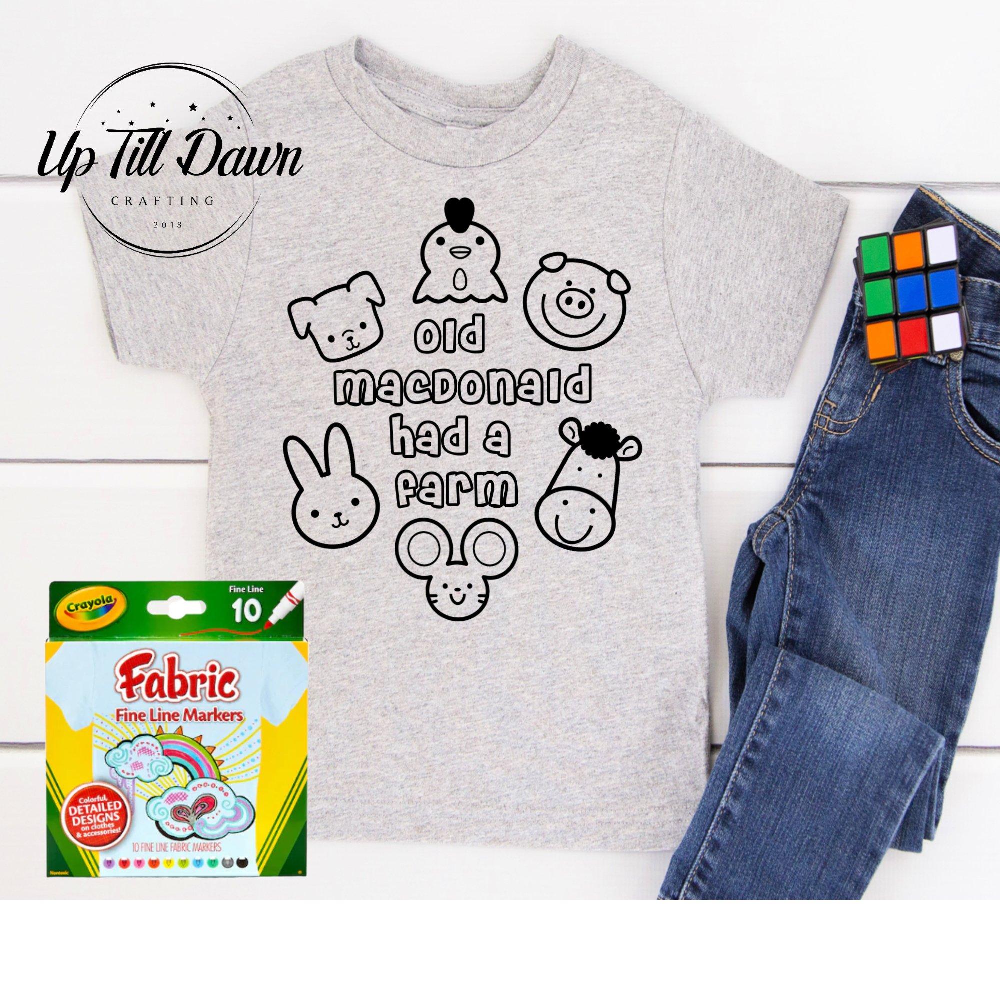 Toddler Coloring Shirt SVG Bundle example image 3