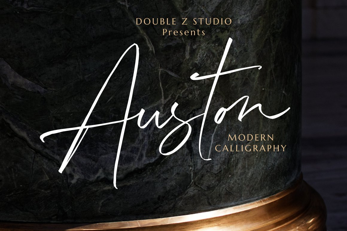 Auston - Modern Calligraphy example image 12