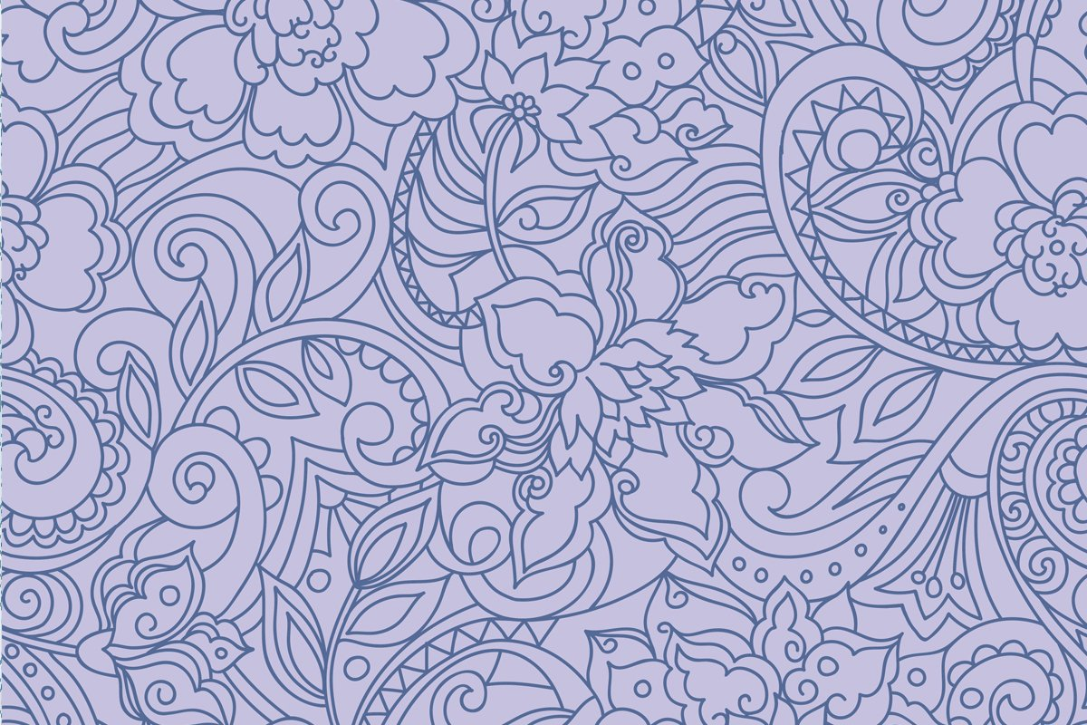Blue purple vector floral pattern example image 3