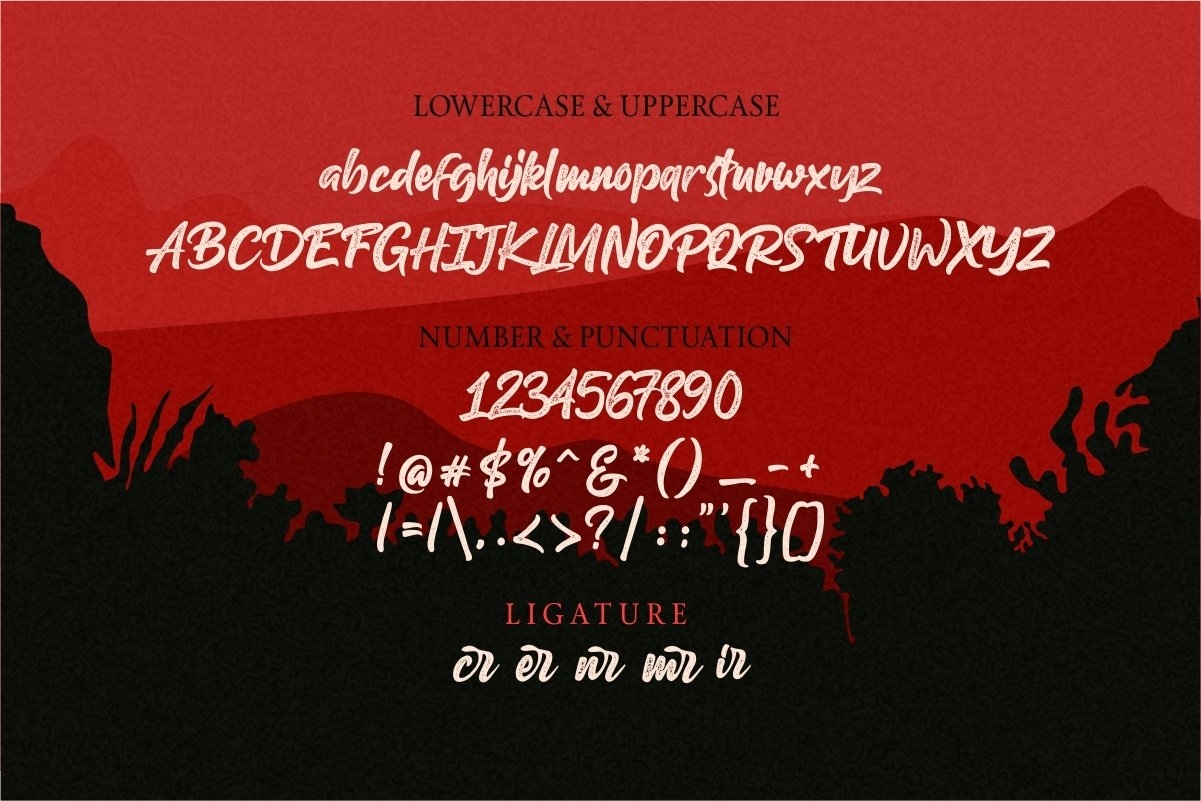 Gilberto letterpress script font example image 9