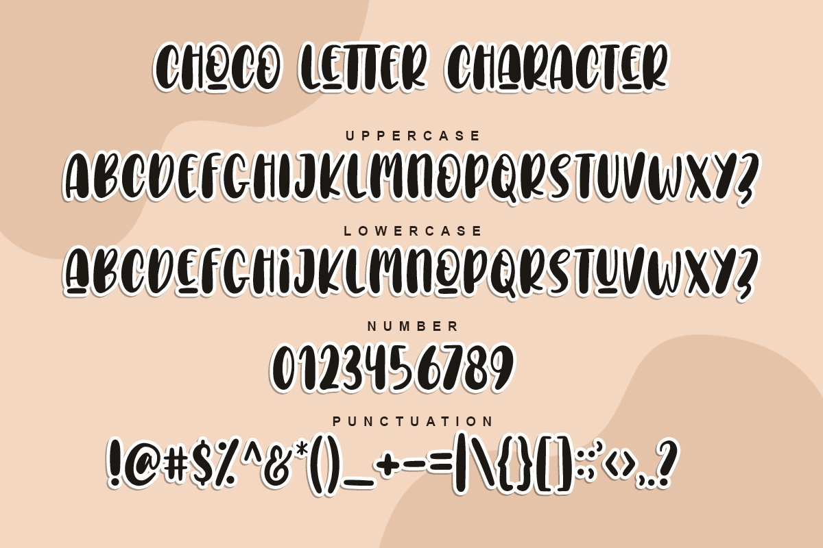Choco Letters | Handwritten Font example image 5