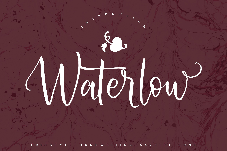 Waterlow | Handwriting Script Font example image 1
