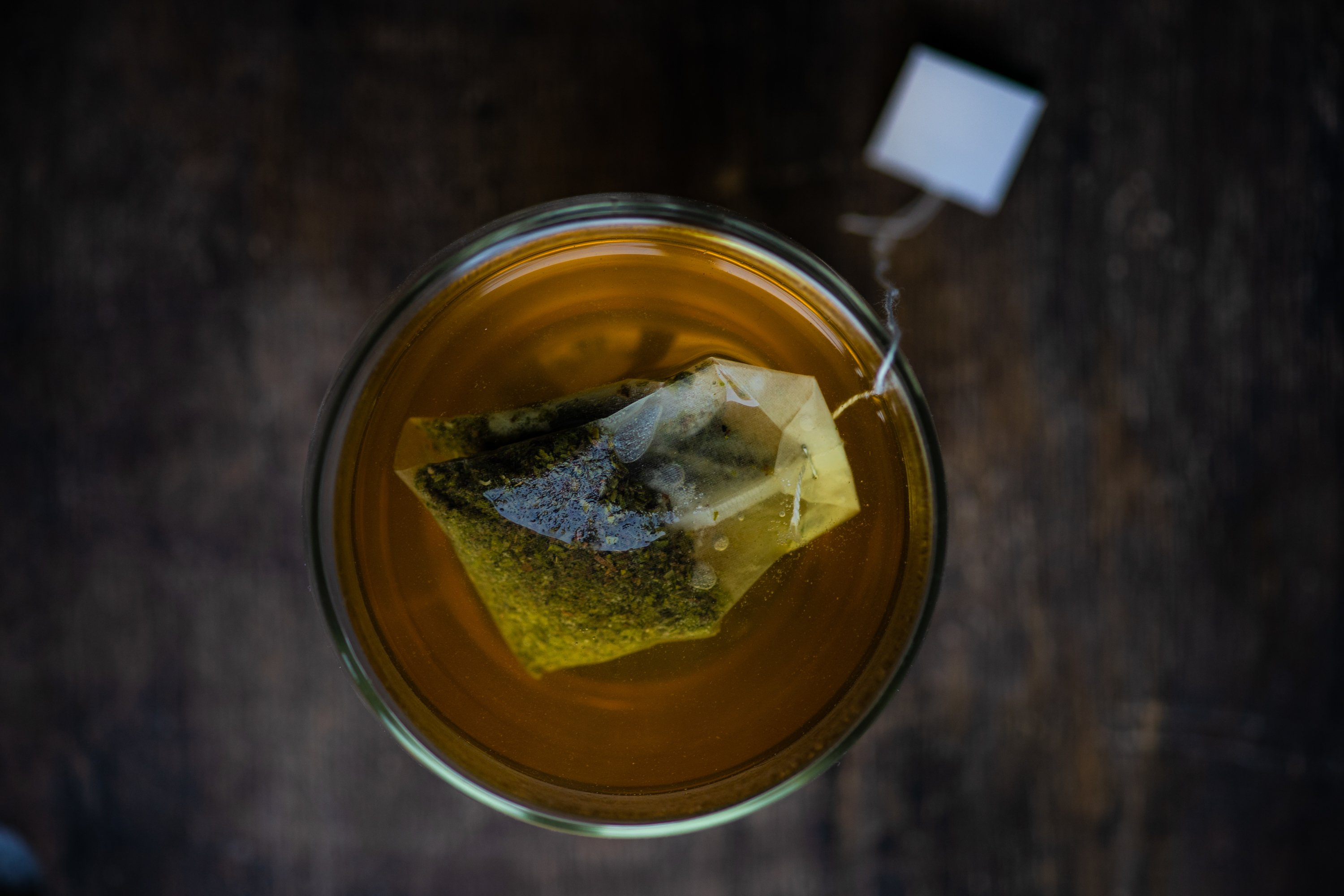 Cup of tea on stone background example image 1