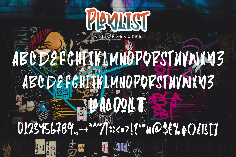 Playlist - Fancy Graffiti Font example image 4