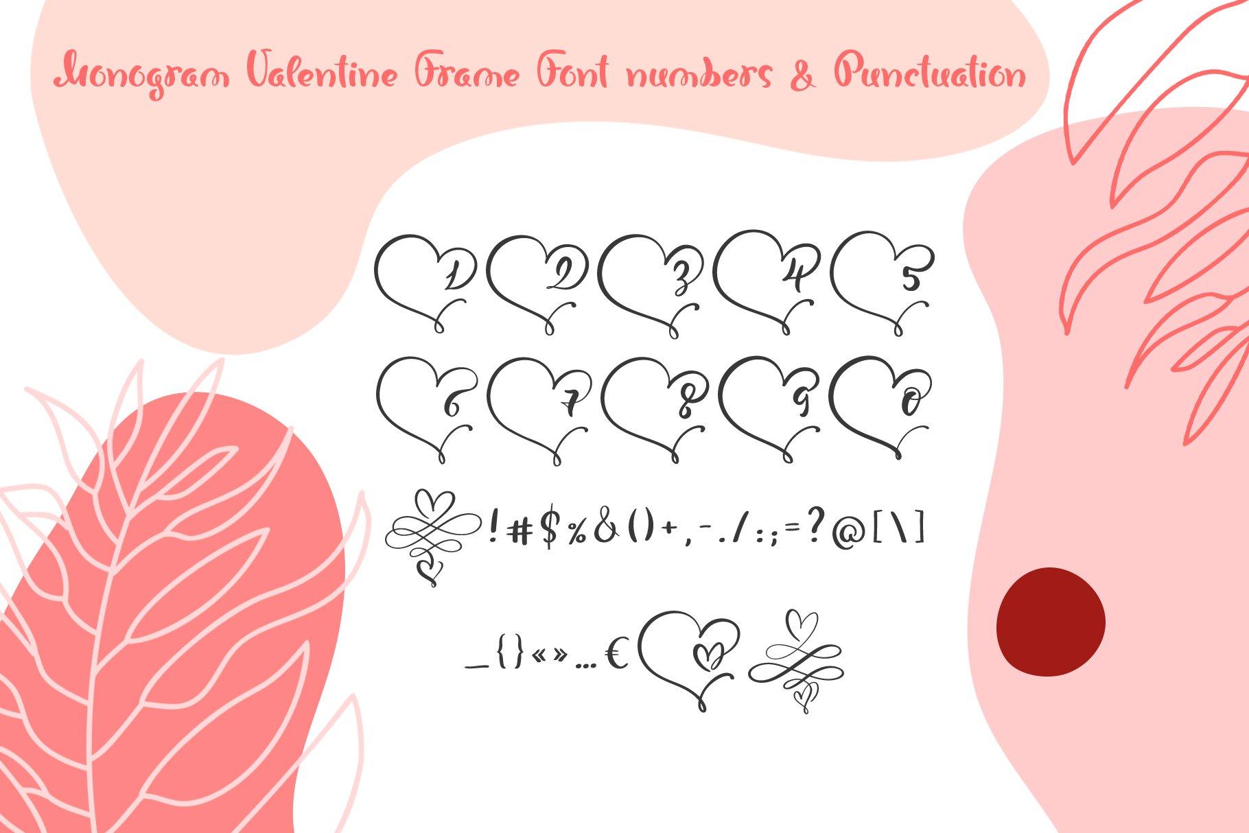 Monogram Heart Flourish Font example image 5