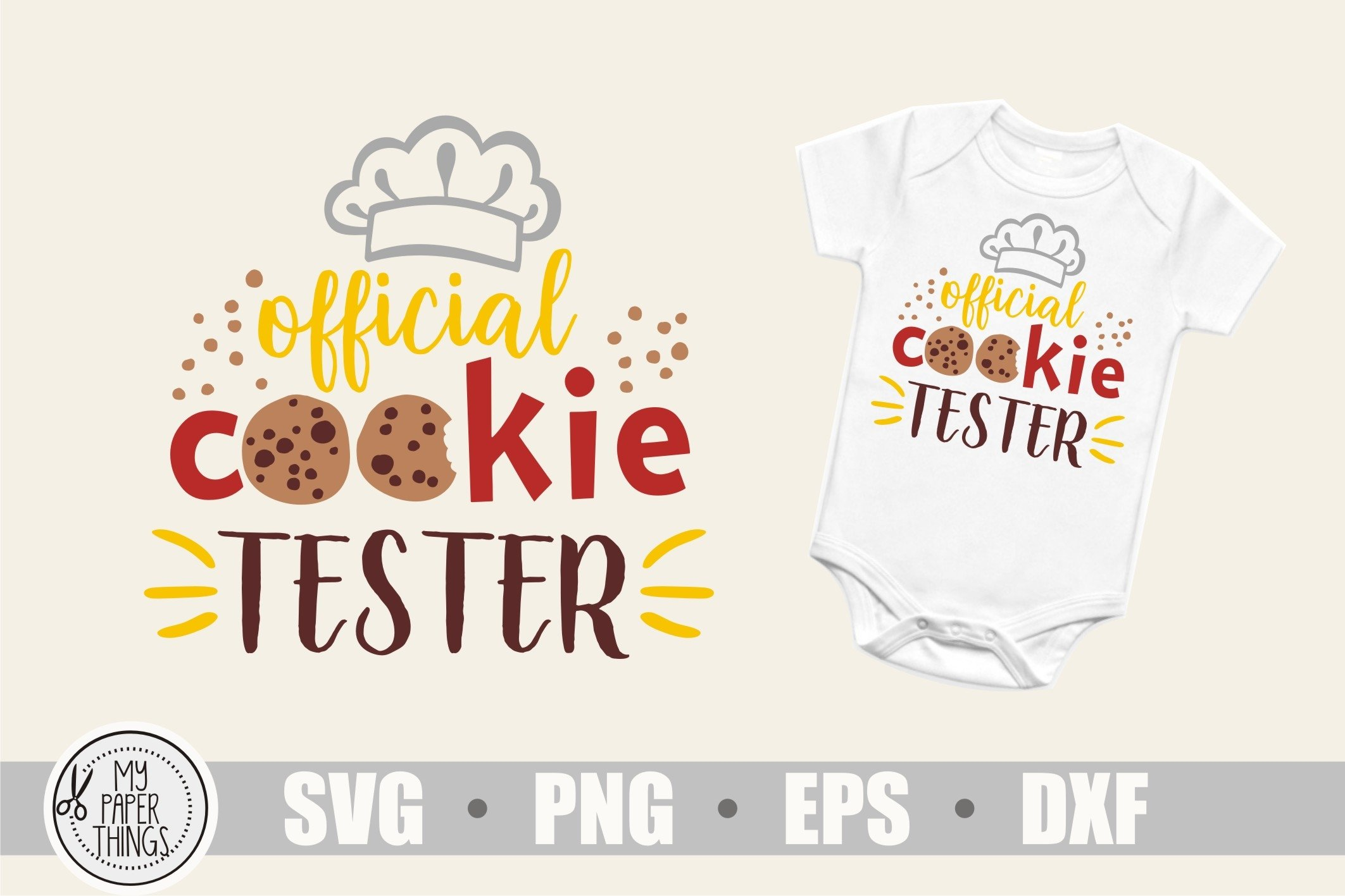 Baby Christmas svg, Cookie tester svg example image 1