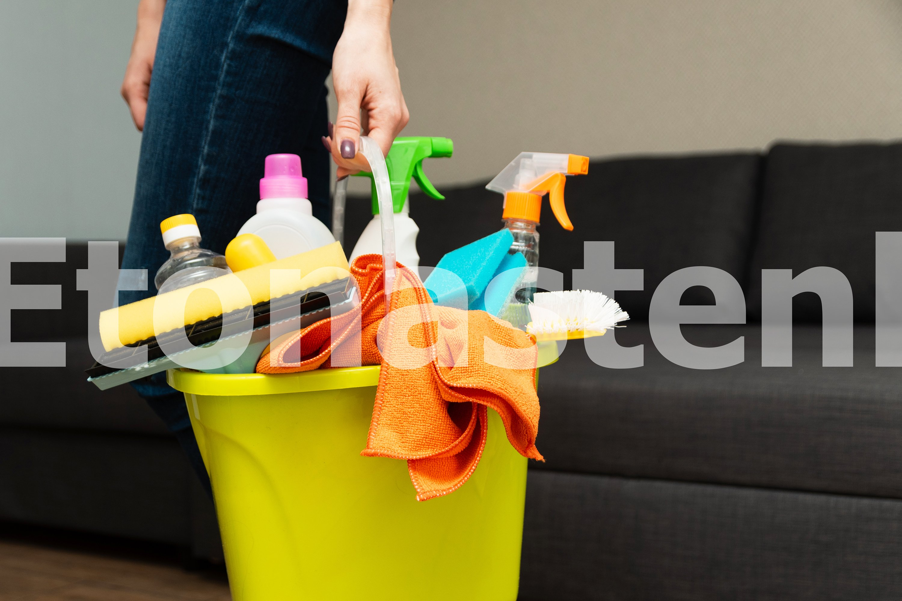 Spring cleaning. A young girl is cleaning her house. example image 5