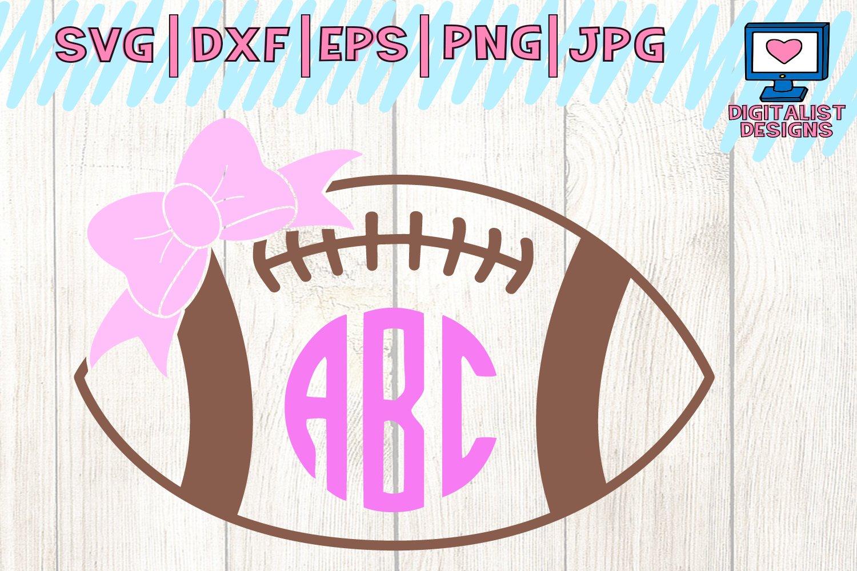 Monogram Football Sports School Svg Dxf Png 128475 Cut Files Design Bundles