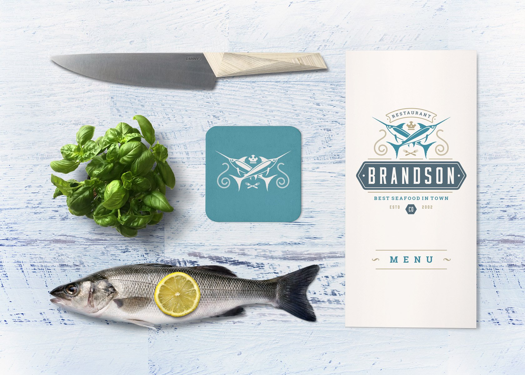 18 Seafood Logos & Badges example image 7