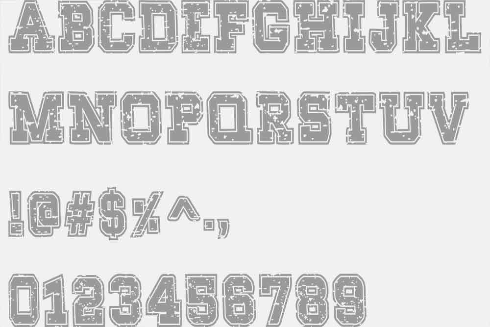 Super Grunge Outline Font example image 5