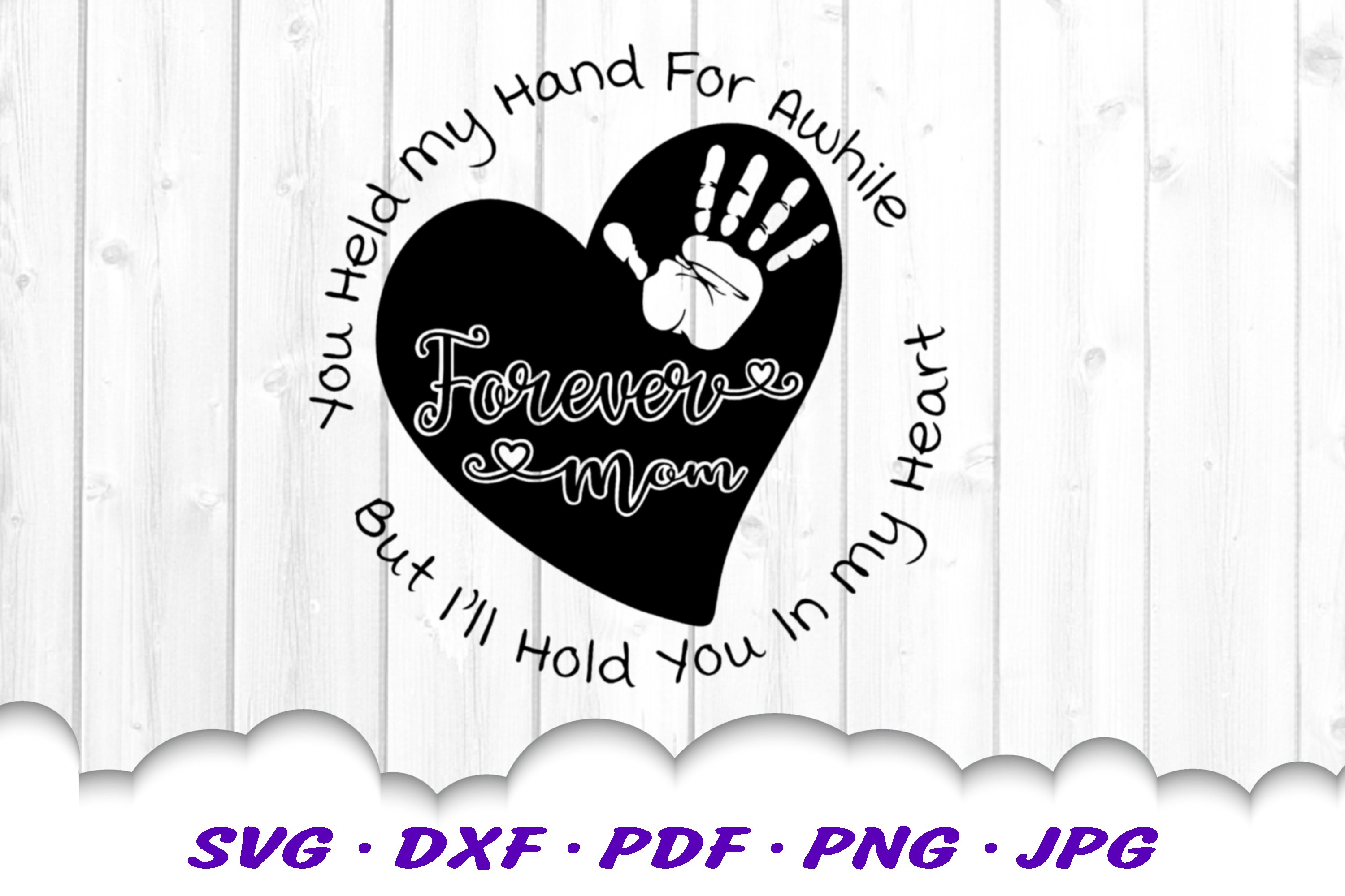 Mother's Day Heart Quote SVG DXF Cut Files example image 3