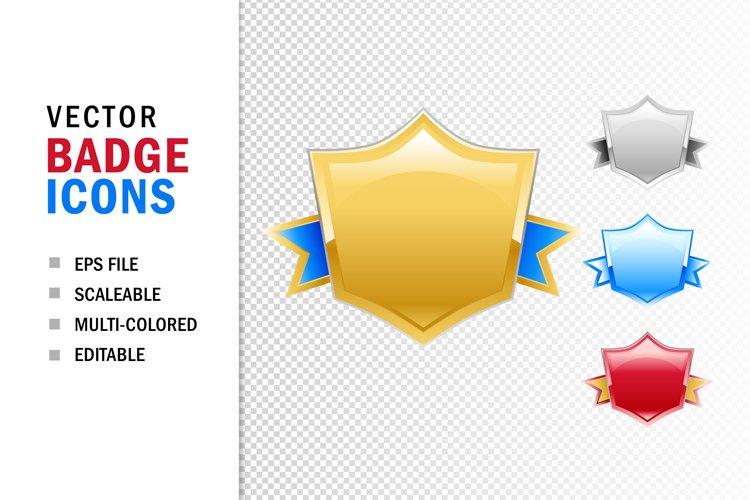 Business Badge Shield Banner Award Signs Vector Eps 482113 Icons Design Bundles
