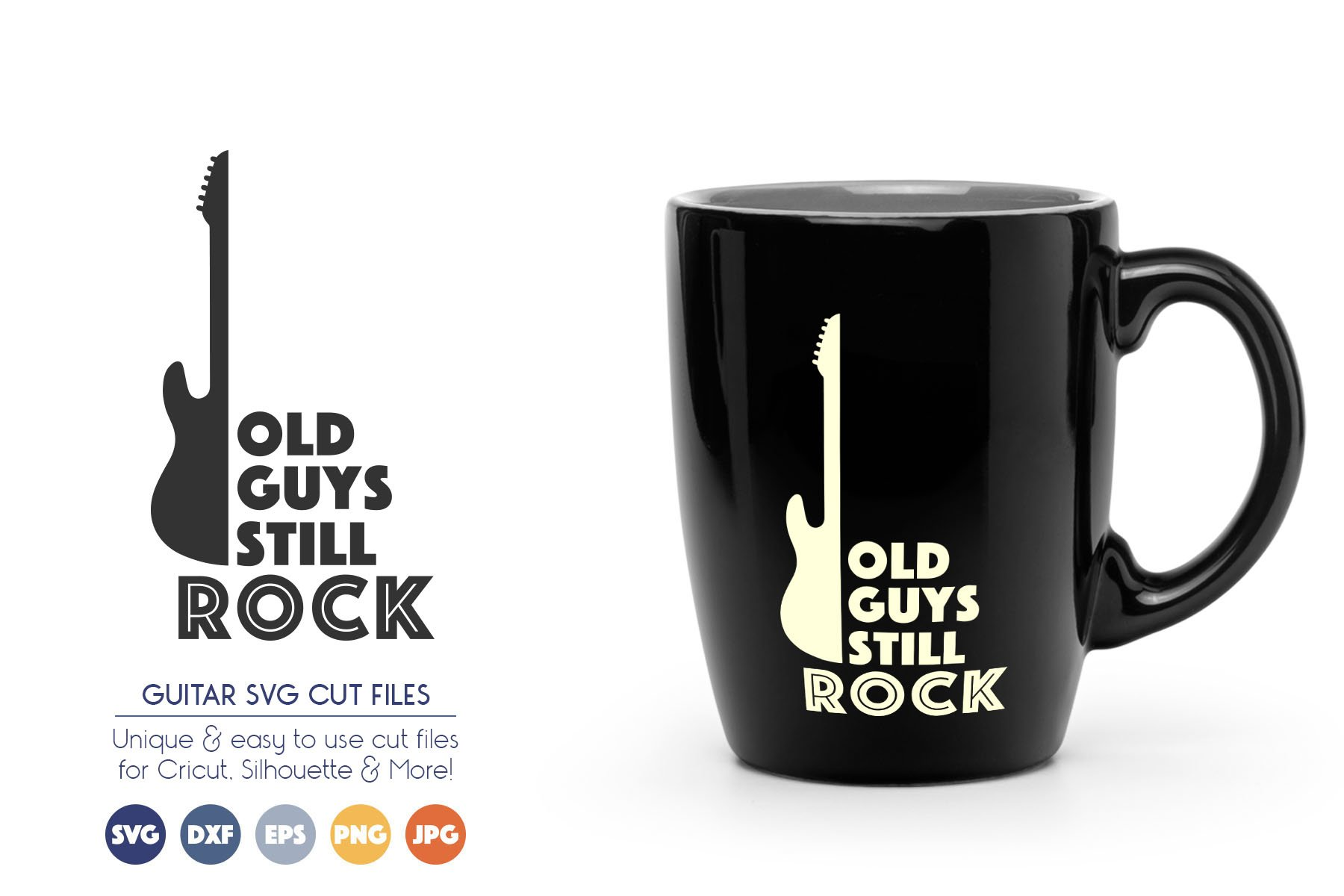 Guitar SVG Cut Files - Old Guys Still Rock example image 1