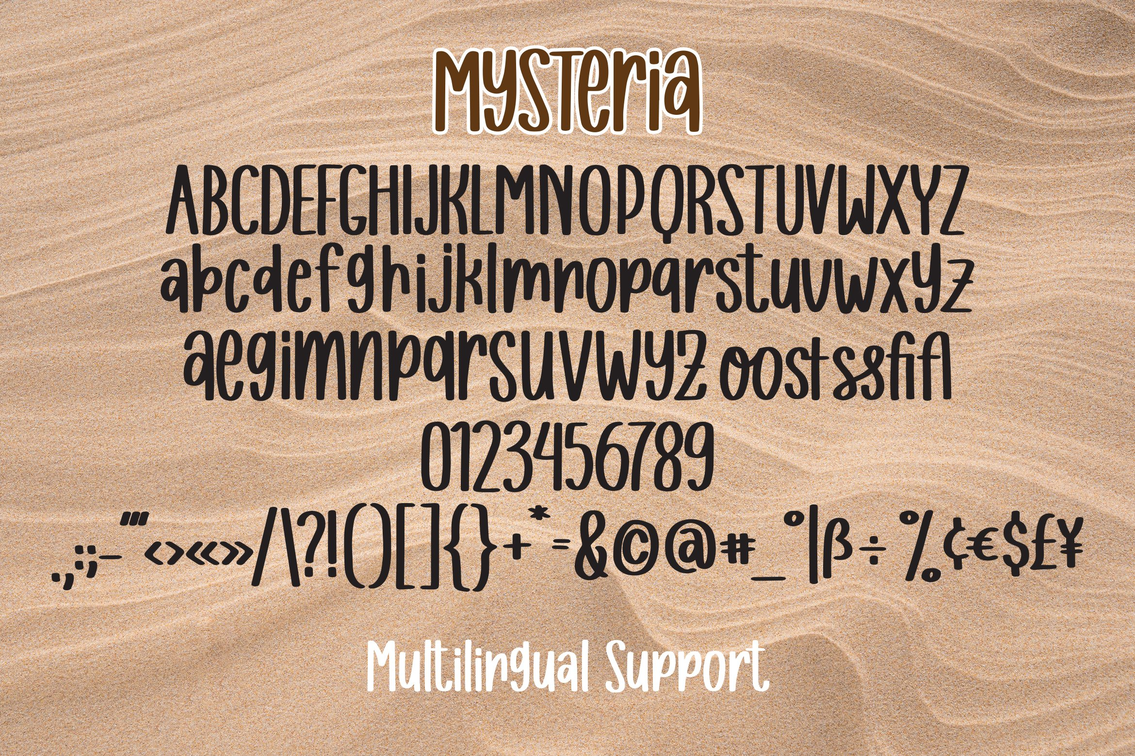 Mysteria - A Handlettered Font example image 7