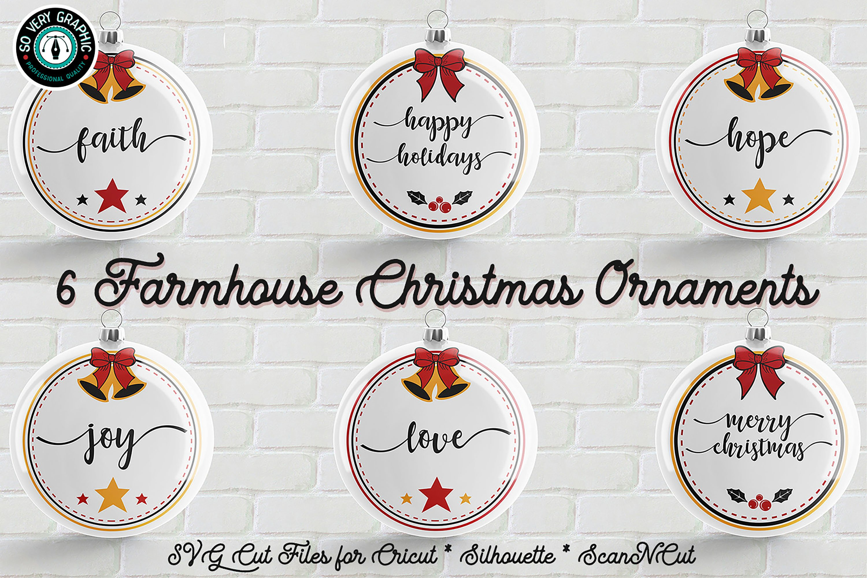 6 Farmhouse Christmas Ornaments Svg Cut File Bundle 172590 Cut Files Design Bundles