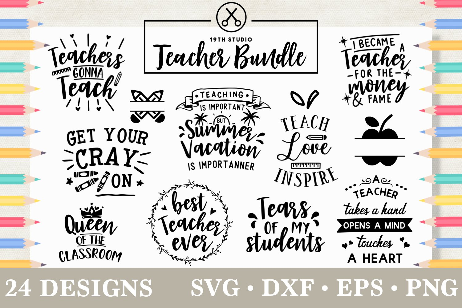 Teacher SVG Bundle - MB5