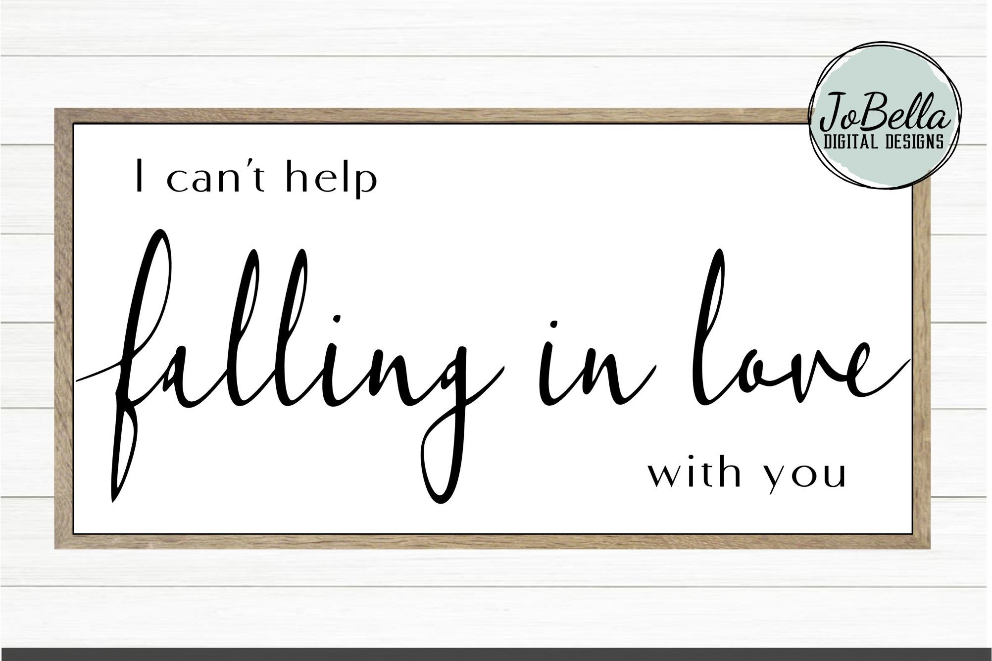 Download I Can't Help Falling In Love With You SVG and Printable ...