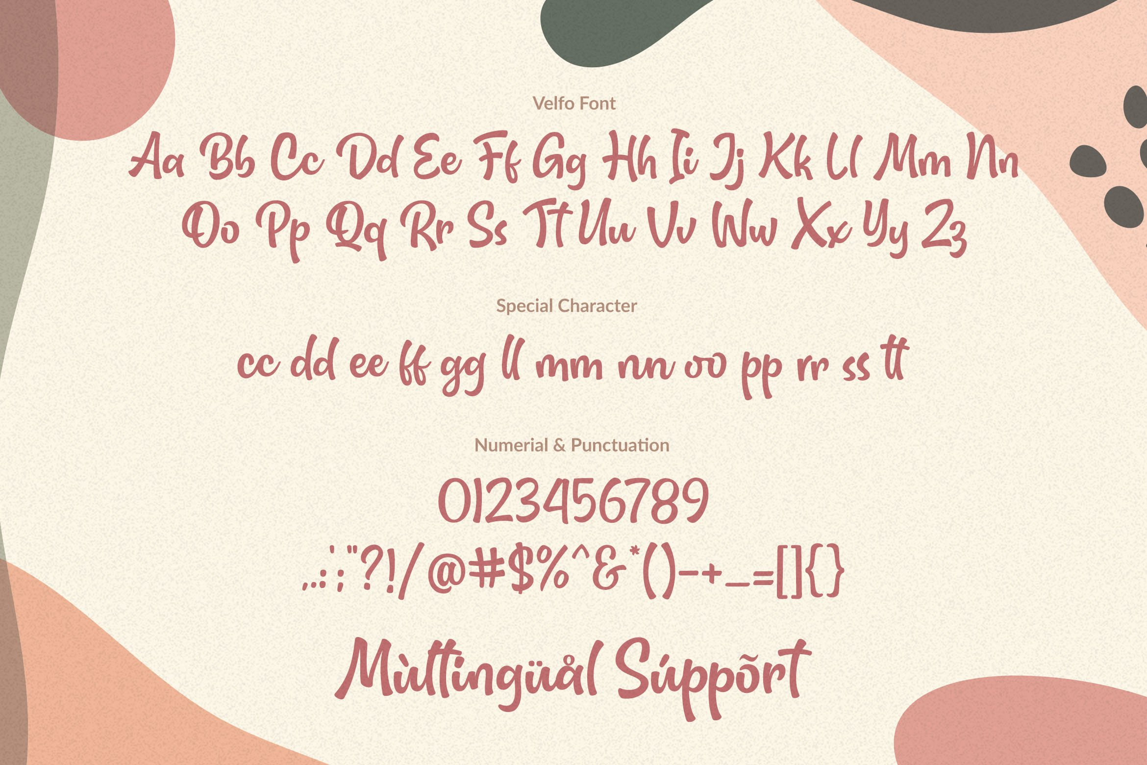 Velfo   A Lovely-Fun And Quirky Font example image 2