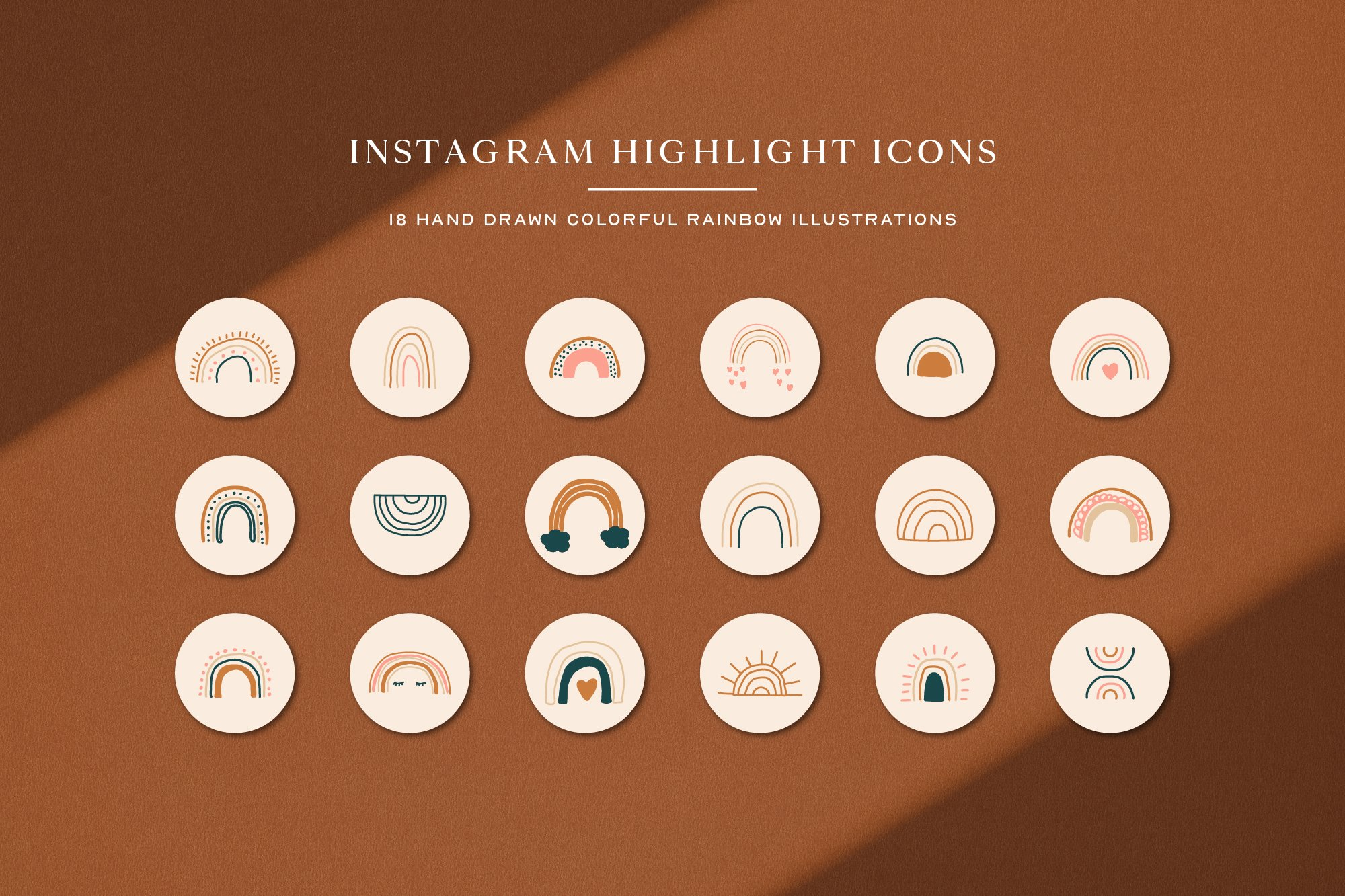 Instagram Rainbow Highlights Icons | Instagram Story Covers example image 2