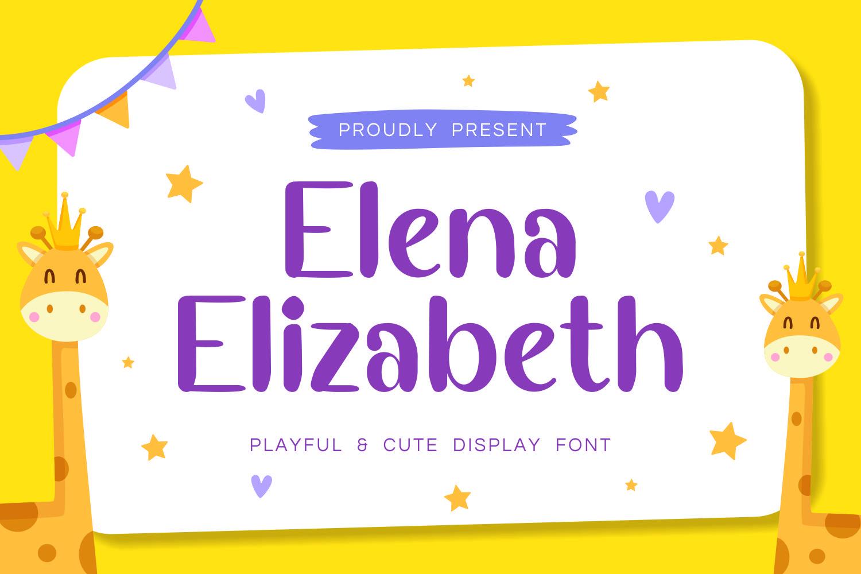 ElenaElizabeth - Playful & Cute Display Font example image 1