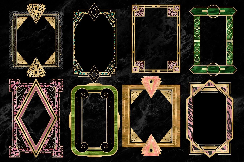 Art Deco Safar Frames Clipart example image 2