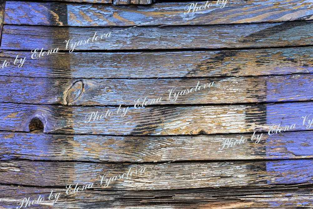 Texture of an old wooden painted wall example image 2
