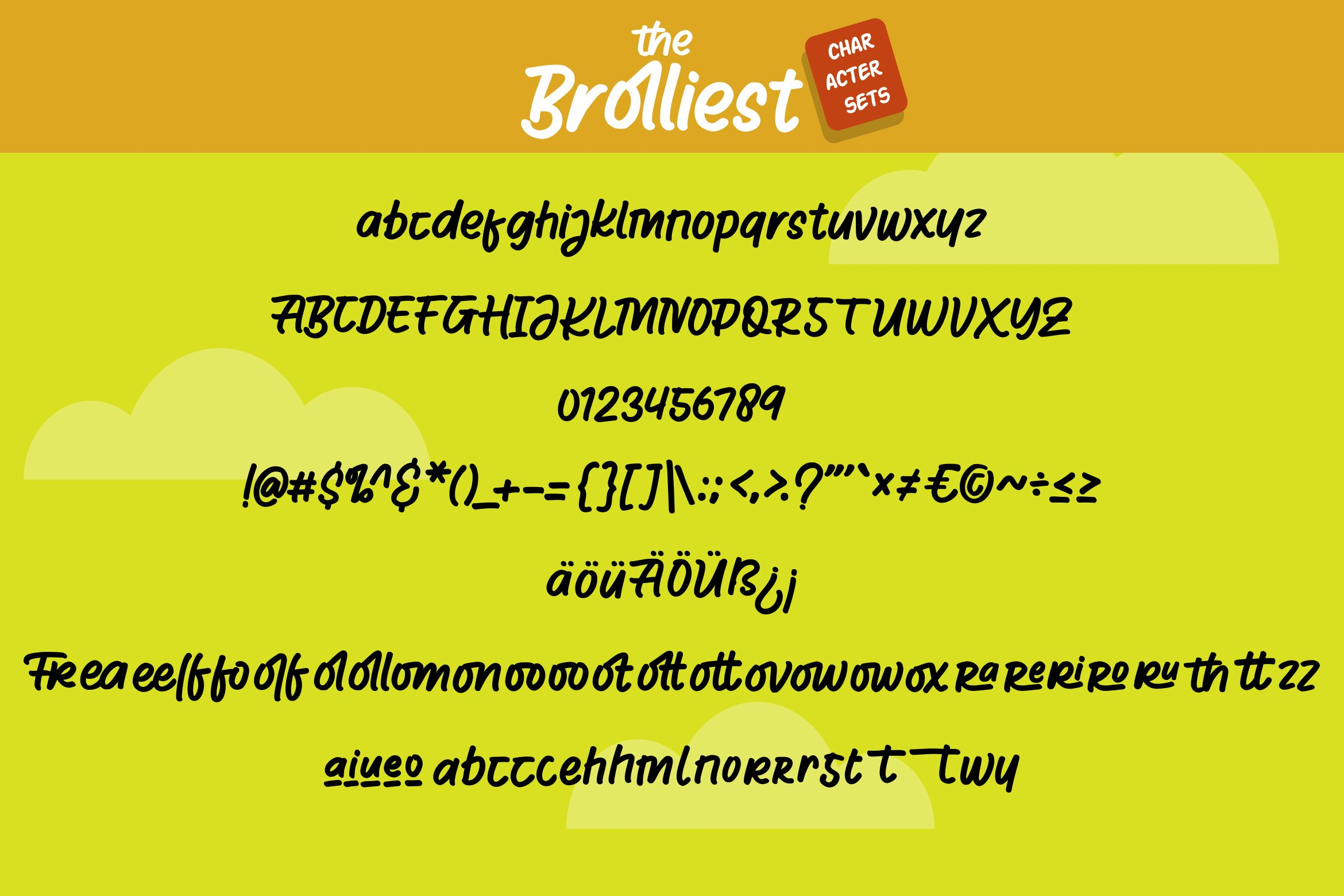 Broliest - A Uniquely Cute Handcrafted Display Font example image 4