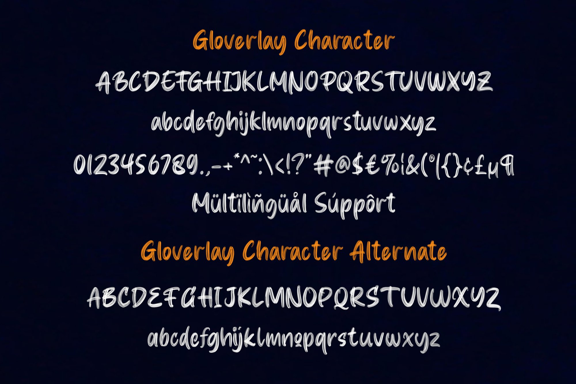 Gloverley SVG Font example image 4