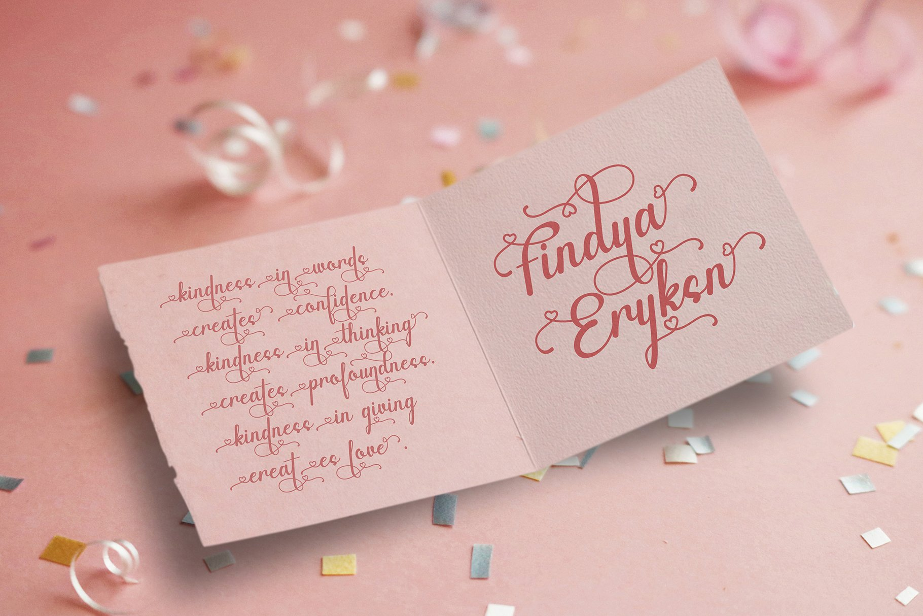 Canding Love - Script font Type face example image 4