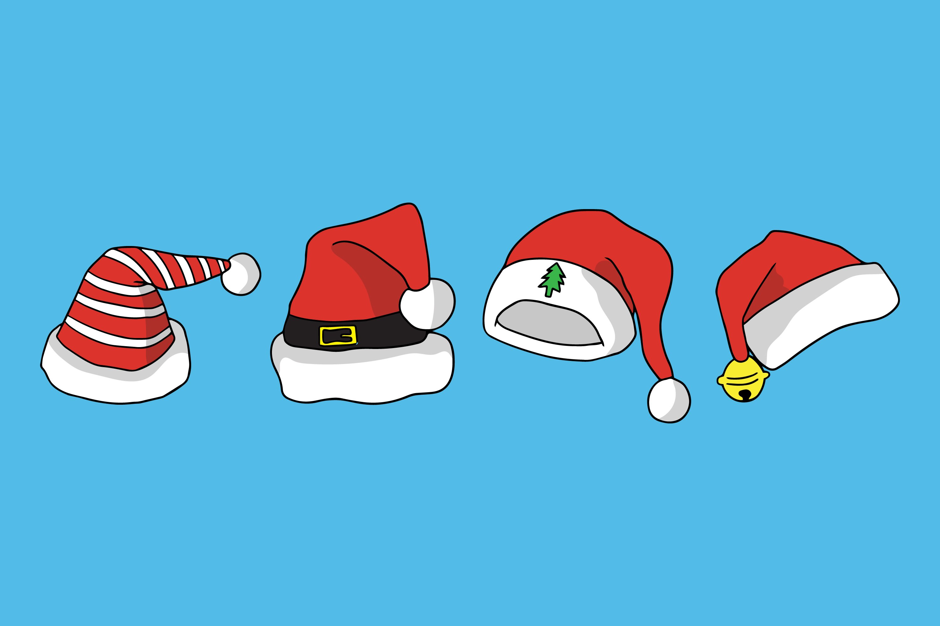 Santa Hat Illustrations example image 1