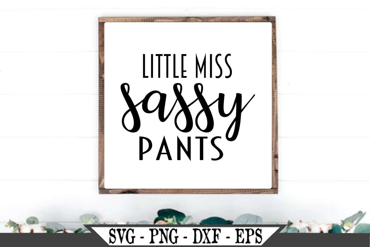 Little Miss Sassy Pants SVG example image 1