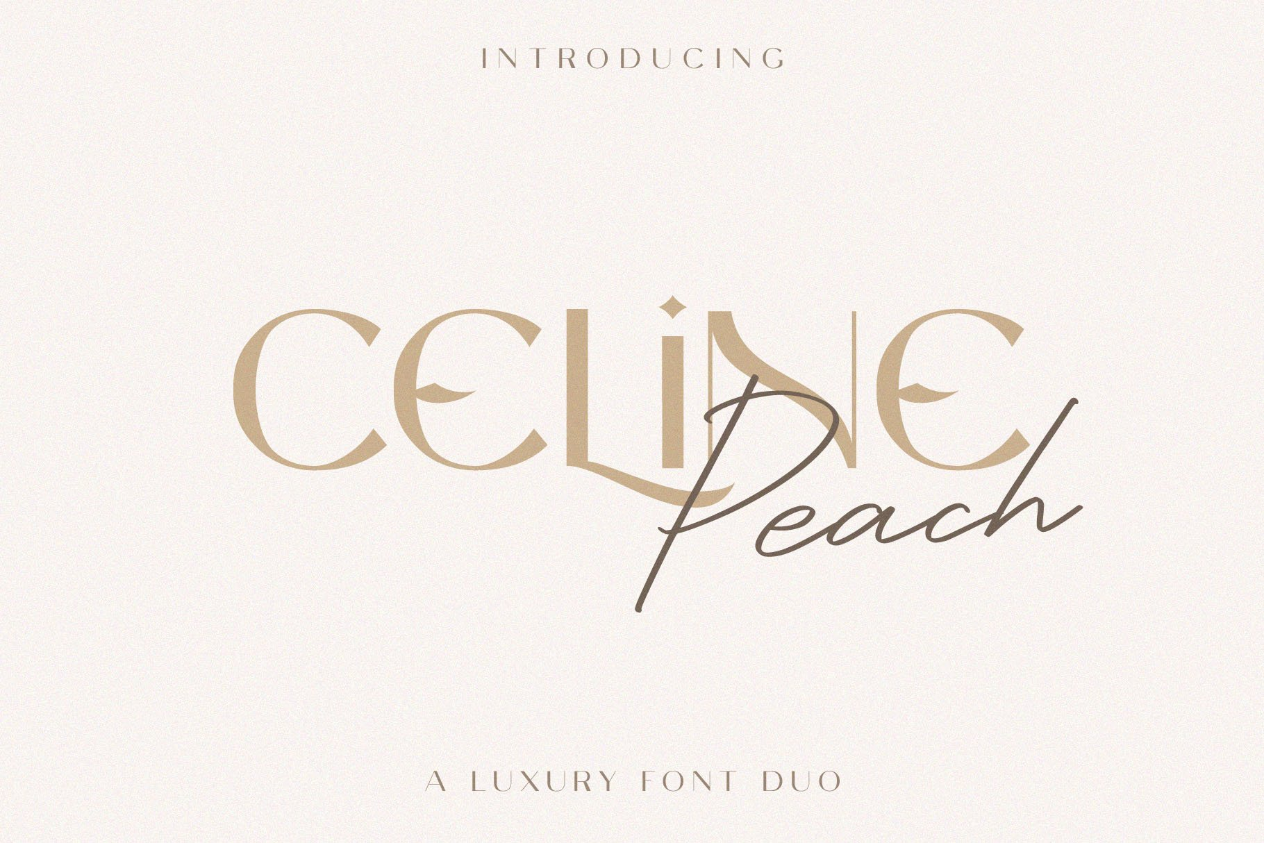 Celine Peach - A Luxury Font Duo example image 1