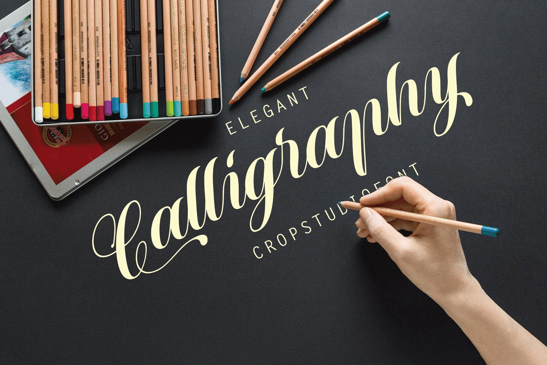 12 graceful charming fonts example image 3
