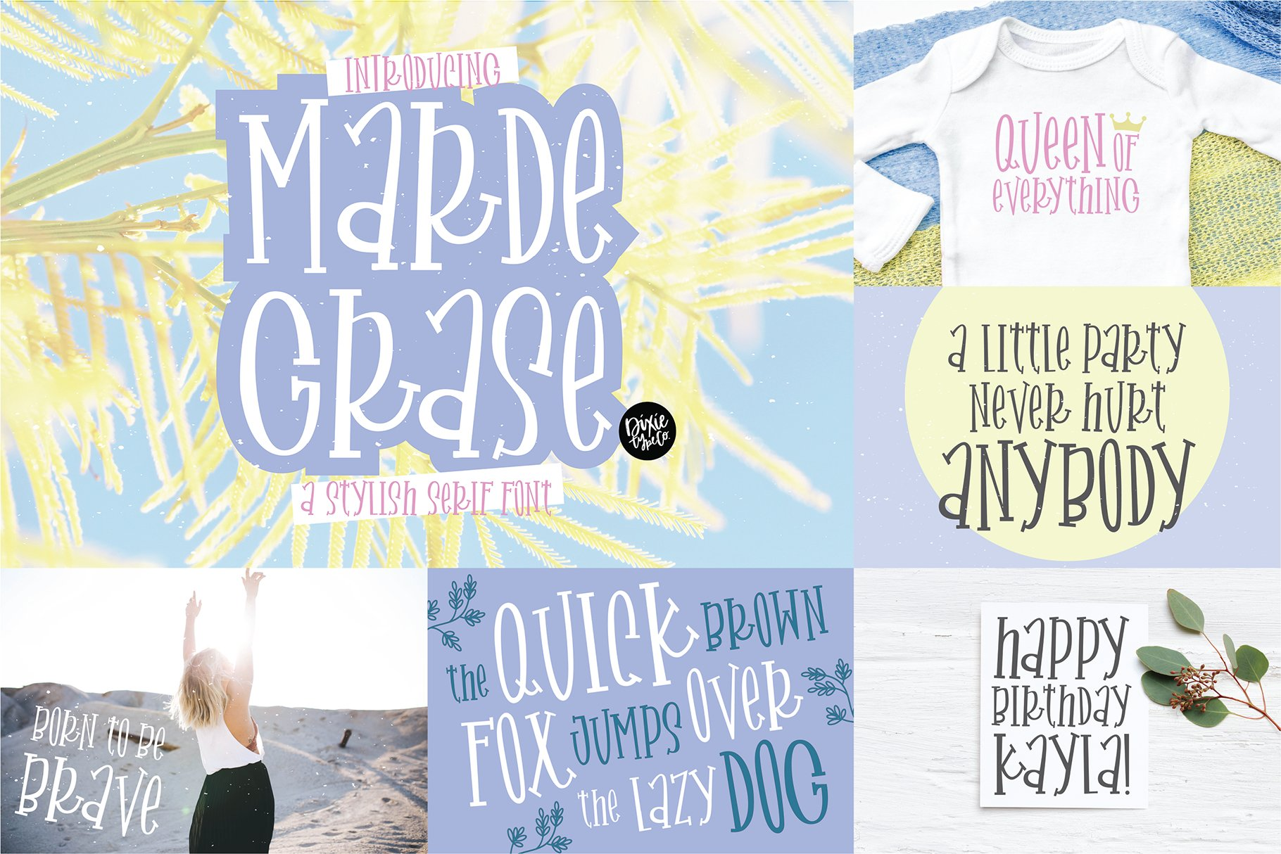 Hand Lettered Font Bundle by Dixie Type Co. example image 6