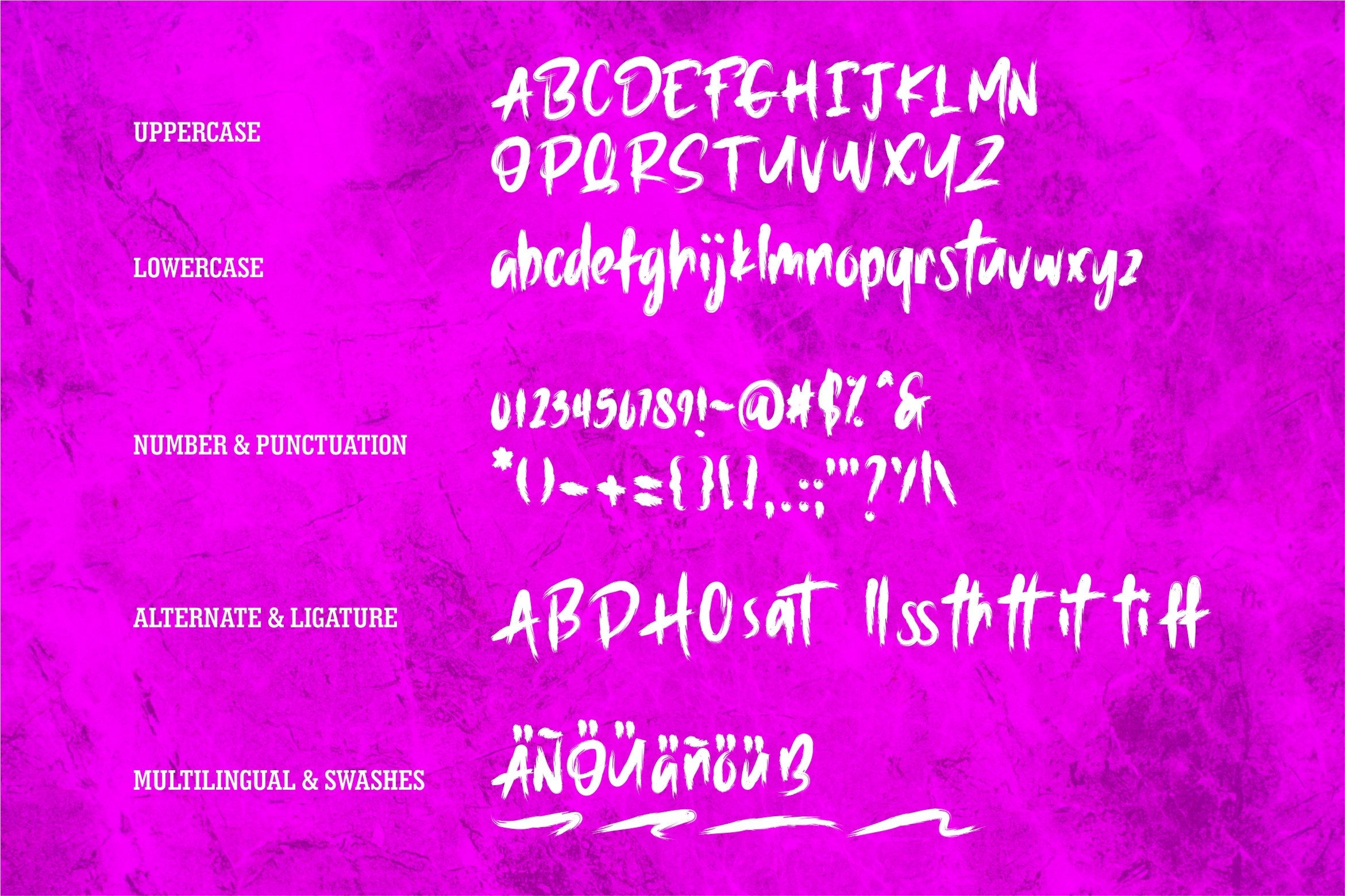 Harkost - New Brush Font example image 6