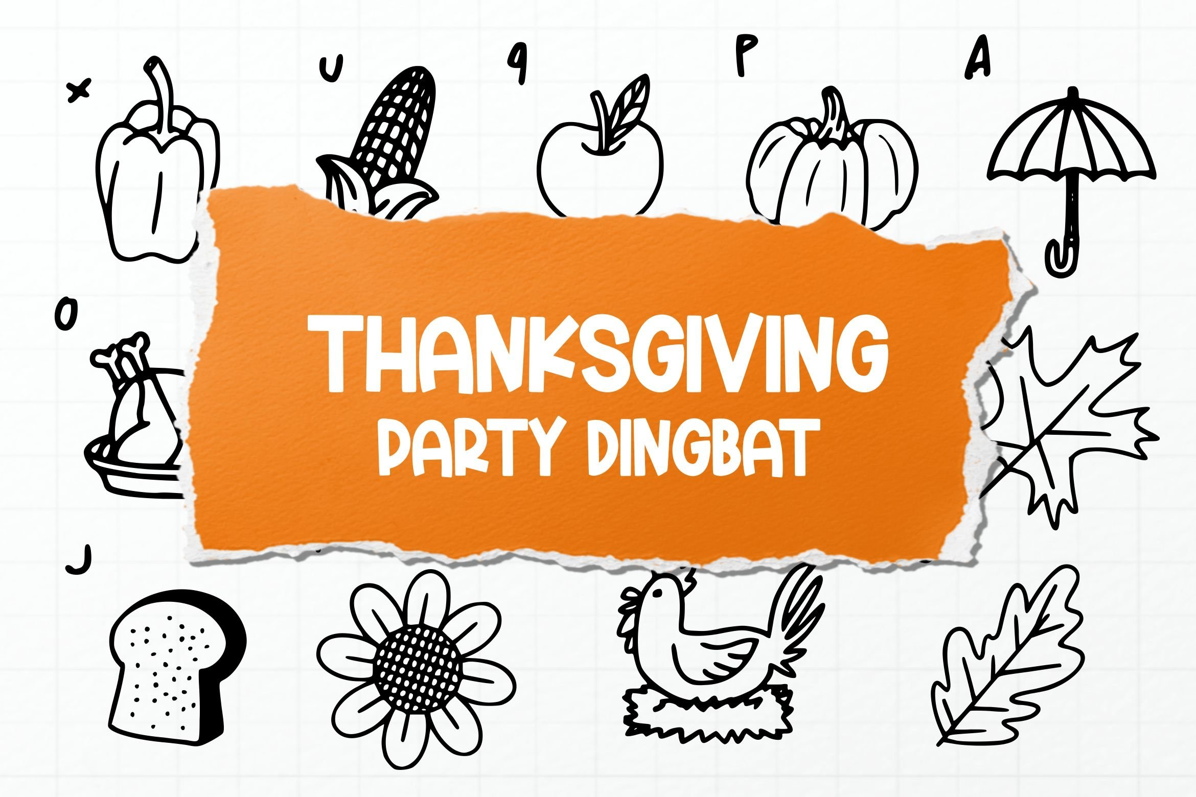 Thanksgiving Party Dingbat Font example image 1