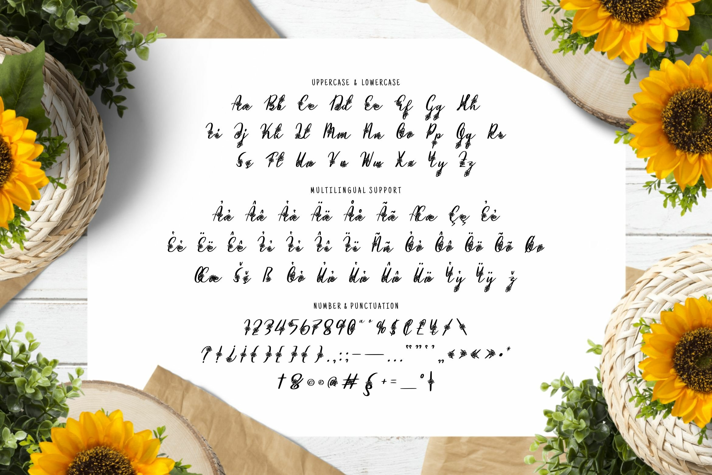 Flower Path Font example image 3