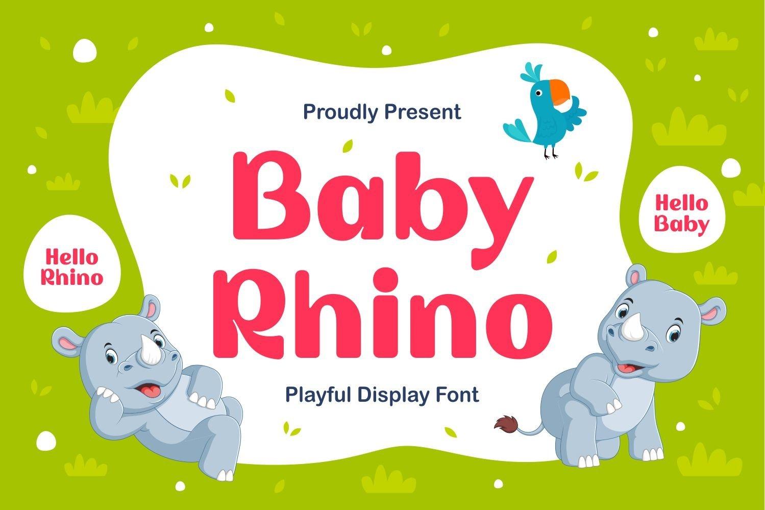 Baby Rhino - Playful Display Typeface example image 1