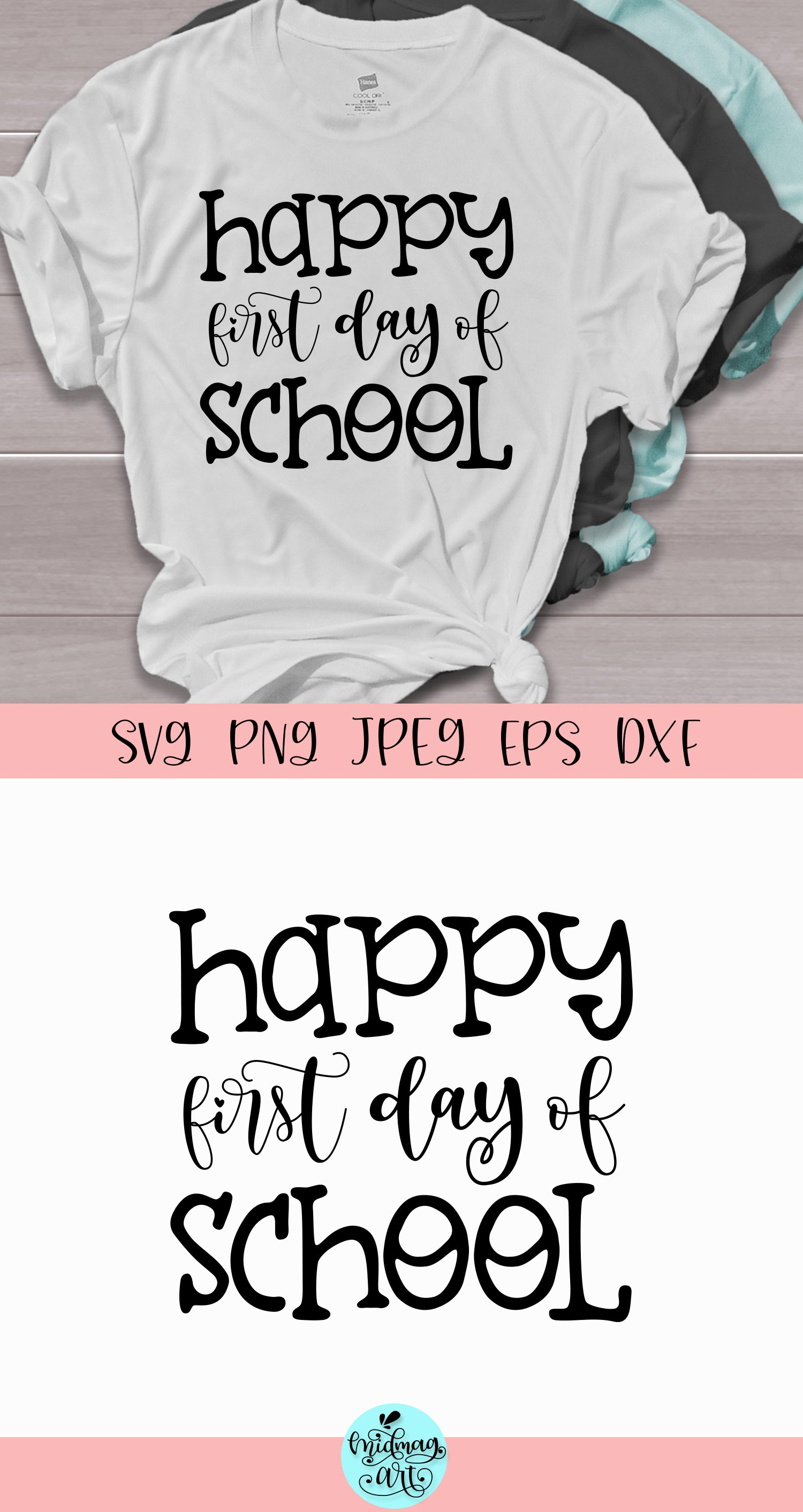 Happy first day of school svg, teacher svg example image 2