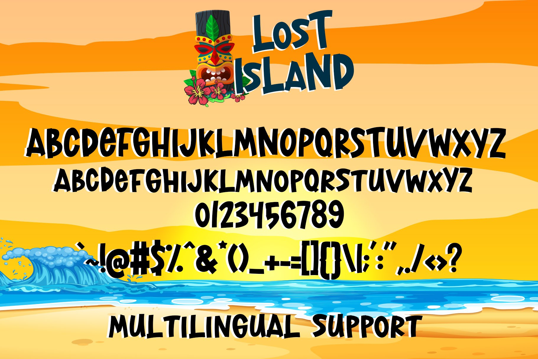 Lost Island - Summer Display Font example image 8