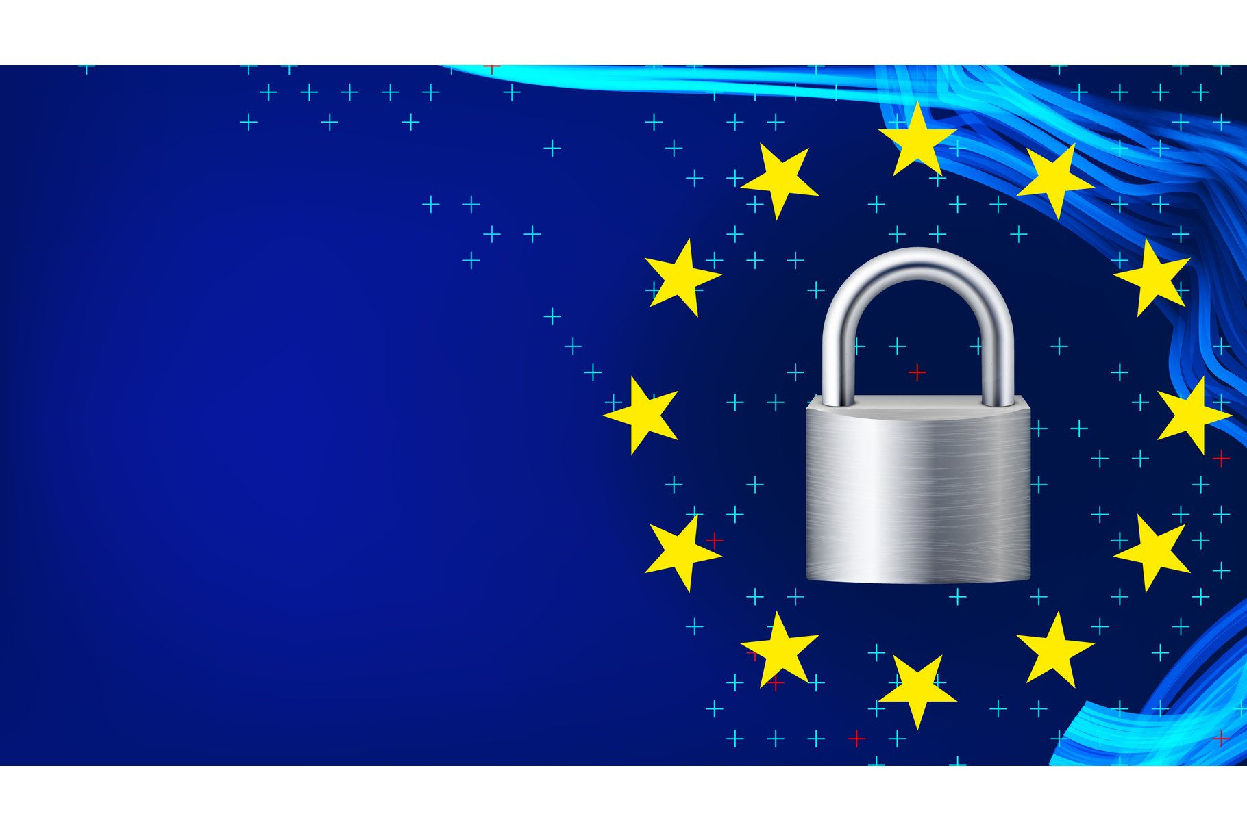 GDPR Background Vector. Padlock. Protection Of Personal example image 1