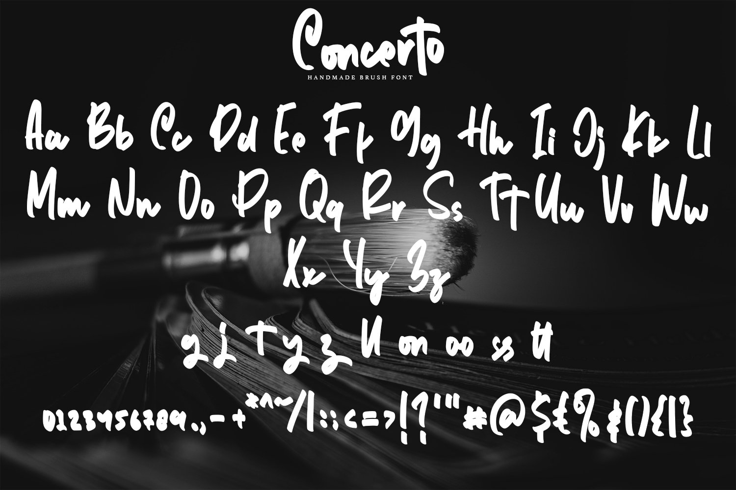 Concerto - Brush Fonts example image 2