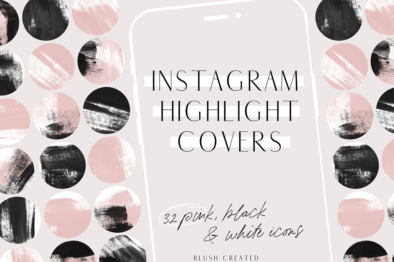 Pink Black Instagram Highlight Cover Icons 537545 Icons Design Bundles
