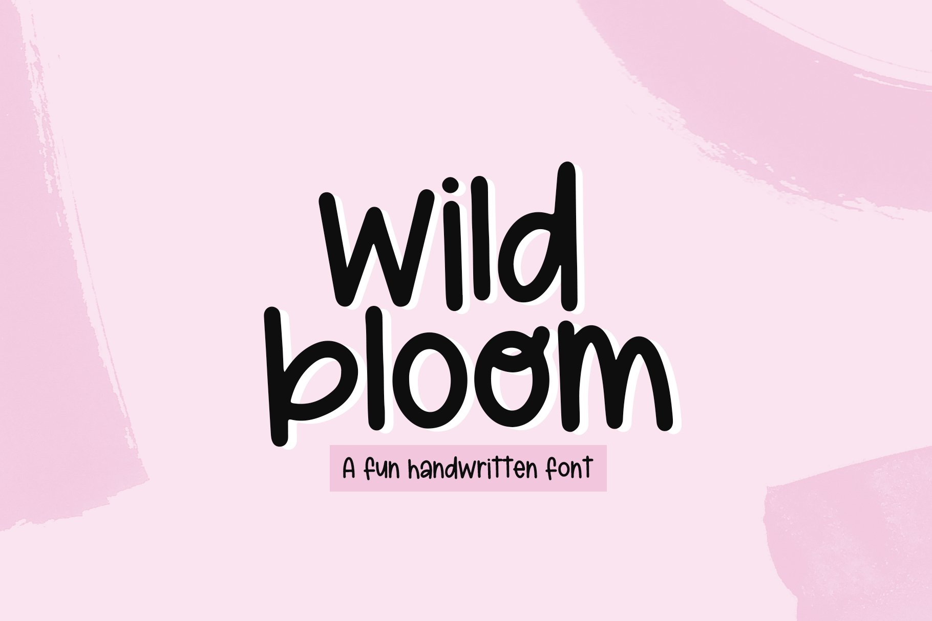 Wild Bloom - A Quirky Handwritten Font example image 1