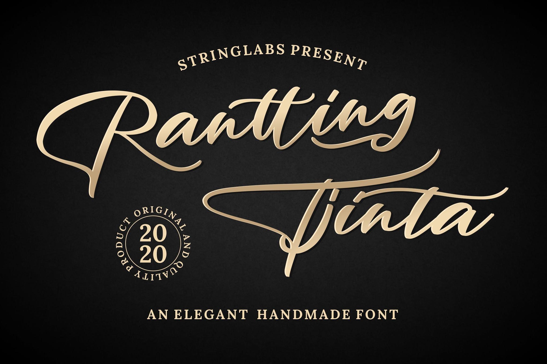 Rantting Tjinta - Stylish Script Font example image 1