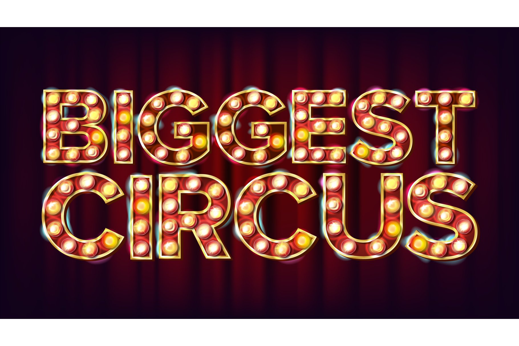 Biggest Circus Banner Sign Vector. For Arts Festival Events example image 1